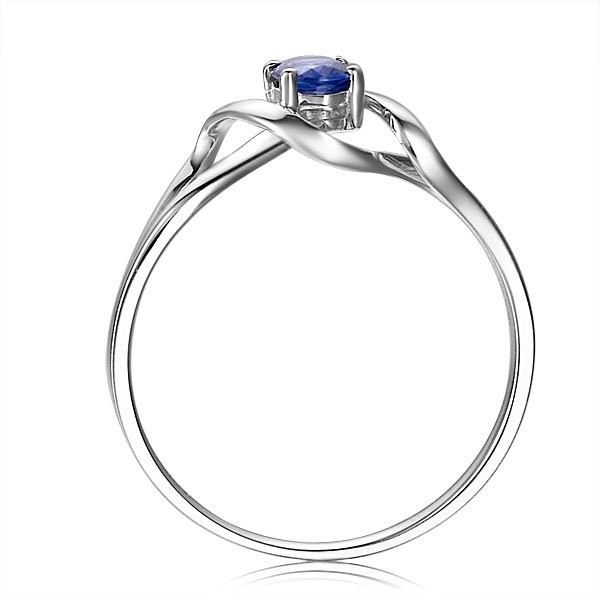 10k wedding ring solitaire sapphire engagement ring on 10k white gold 1013