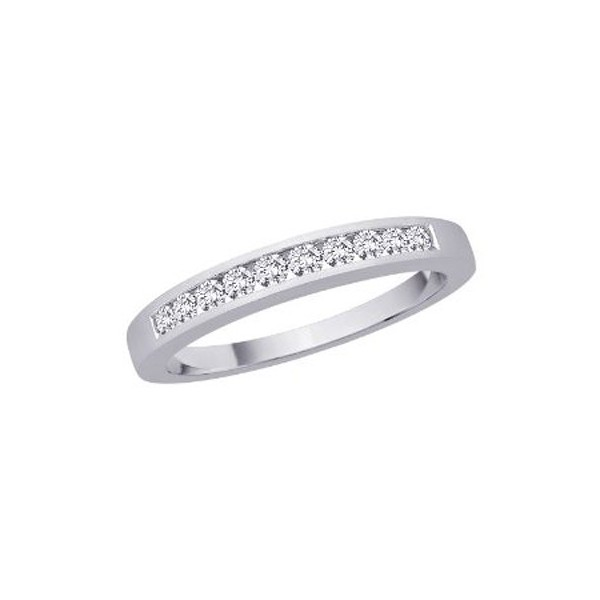 25 Carat Diamond Wedding Band On 10k White Gold