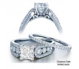 2 Carat Diamond Bridal Set on Closeout Sale