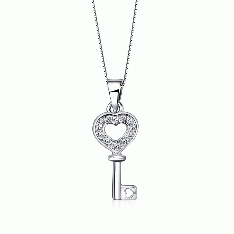 Heart key diamond pendant on sale jeenjewels heart key diamond pendant on sale aloadofball Images