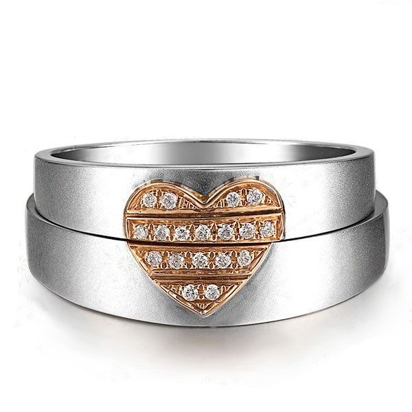 Queenly Heart Ring Married Life Rings 0 10 Carat Diamond on Gold
