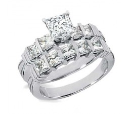 1 Carat Princess cut Diamond Engagement Ring on Closeout Sale