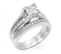 1 Carat Diamond Wedding Set on Sale