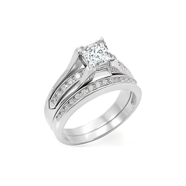 1 Carat Diamond Wedding Set On