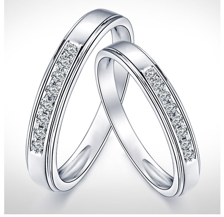 S Matching Diamond Wedding Ring Bands On Gold
