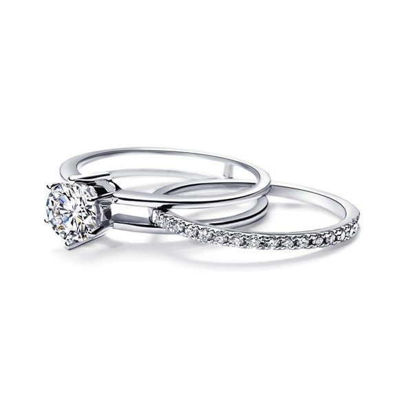 Fabulous Emerald And Baguette Diamond Ring Wedding Sets Amid Affordable Design