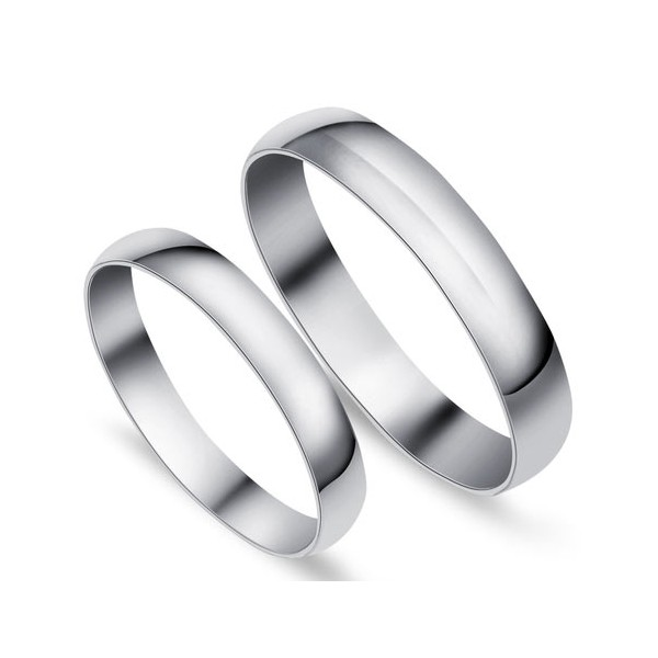 Plain Comfort Fit Wedding Ring Bands For Him And Her