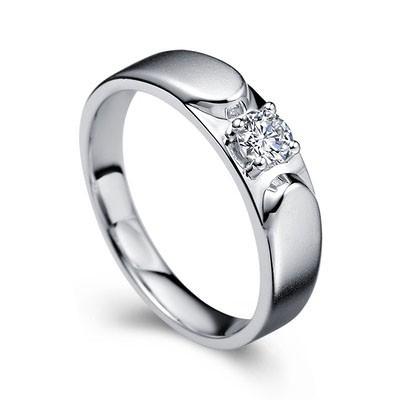 Men s Diamond Wedding Ring Band in White Gold JeenJewels