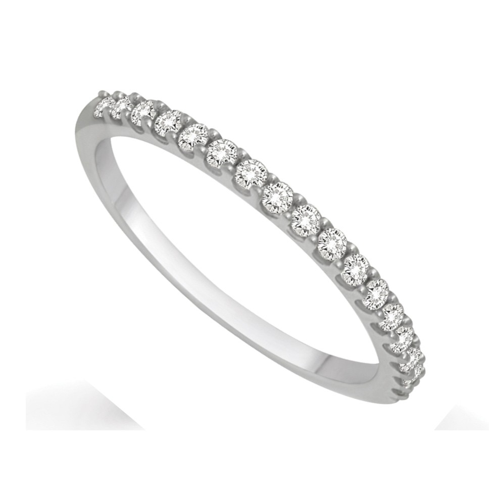 Affordable Diamond Wedding Band for Her in White Gold   JeenJewels