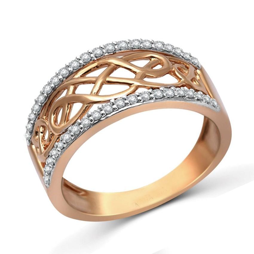 Designer Rose Gold Diamond Wedding Band Ring for Women - JeenJewels