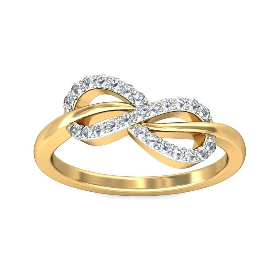tantalizing infinity ring diamond ring 0.25 carat round cut diamond