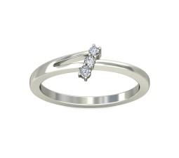 Three Stone Round Diamond Ring on Sale