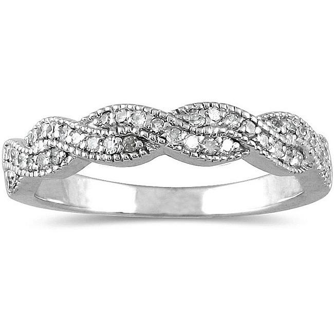 Antique Infinity Design Diamond Wedding Ring Band