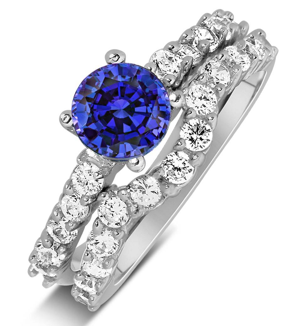 Blue Shire Wedding Ring Set Image Of Enta
