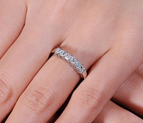 1 Carat Princess Cut Diamond Wedding Band