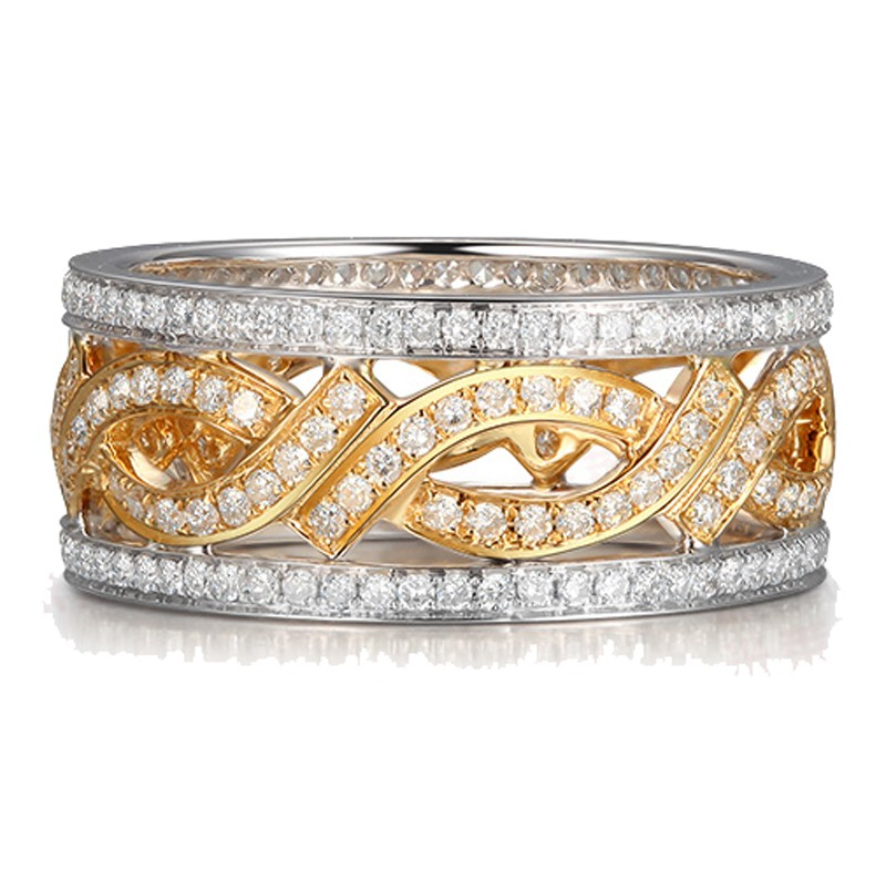 White Gold Wedding Band Sets