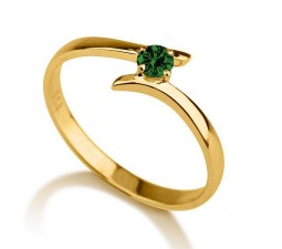 .50 carat Round Cut Round  Solitaire Engagement Ring in 10k Yellow Gold