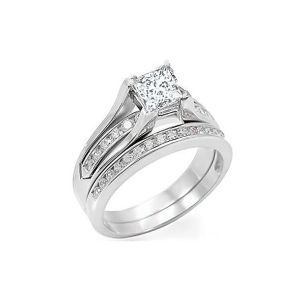 1 Carat Diamond Wedding Set On