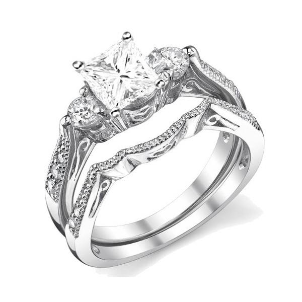 0 58 Carat Princess Cut Gia Certified Diamond Antique