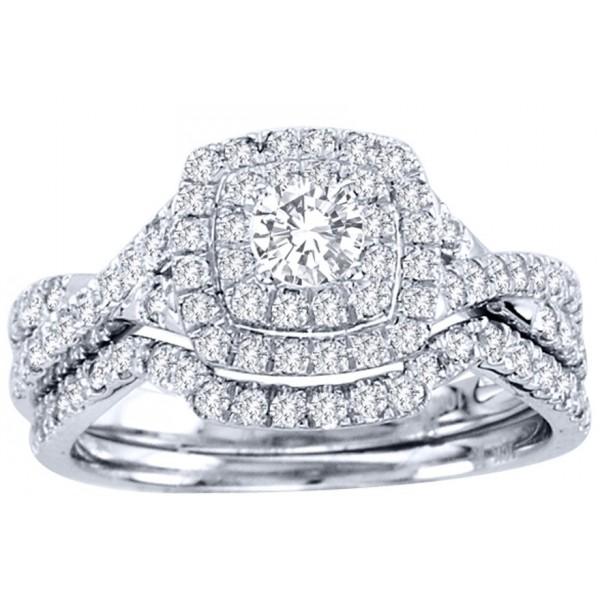 2 Carat Round Cut GIA Certified Diamond Luxurious Halo Cheap