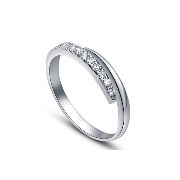 25 Carat Diamond Wedding Band On 10k White Gold