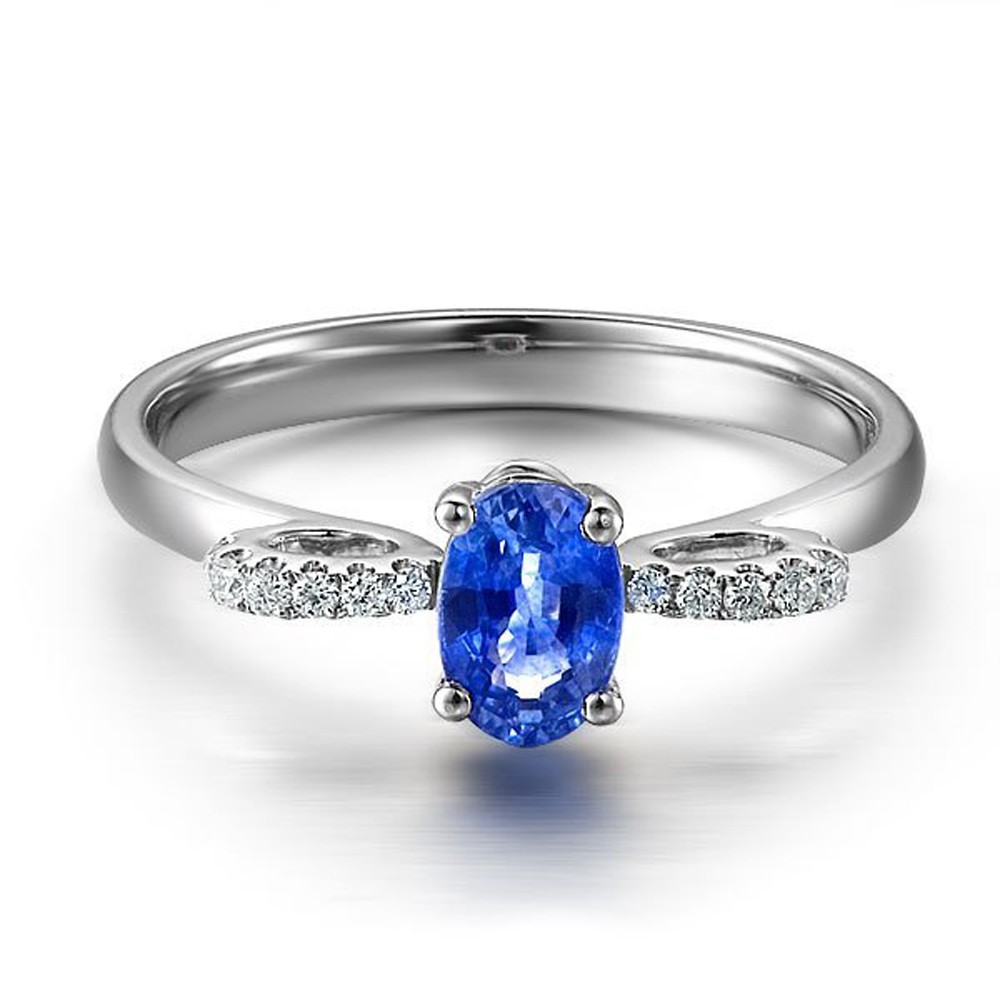 Unique Sapphire and Diamond Engagement Ring JeenJewels