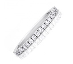 .50 Carat Diamond Wedding Band on 10k White Gold