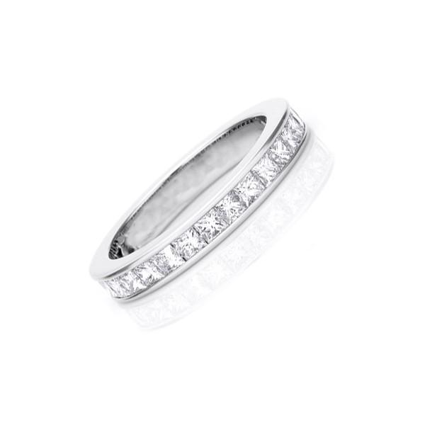 2 carat eternity princess cut wedding band ring