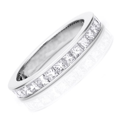 ... Bands  2 Carat Eternity Princess cut Diamond Wedding Band Ring