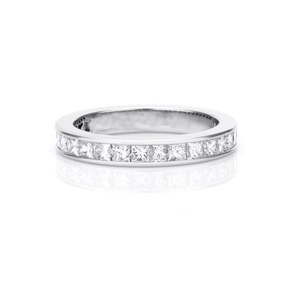 2 Carat Eternity Princess cut Diamond Wedding Band Ring JeenJewels