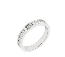 1/2 Carat Women Diamond Wedding Band on 14k White Gold