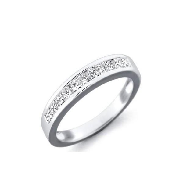 Huge 1 00 Carat Princess cut Women Diamond Wedding Band JeenJewels