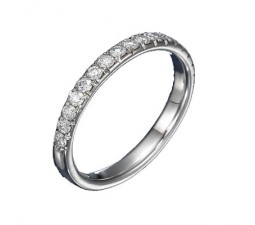 .50 Carat Diamond Wedding Band on 14k White Gold