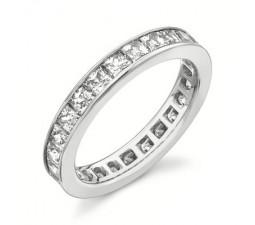 2 Carat Eternity Princess cut Diamond Wedding Band