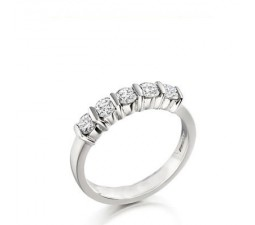.25 Carat Diamond Wedding Band Ring on 14k White Gold