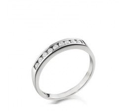 1/4 Carat Diamond Wedding Band on 14k White Gold