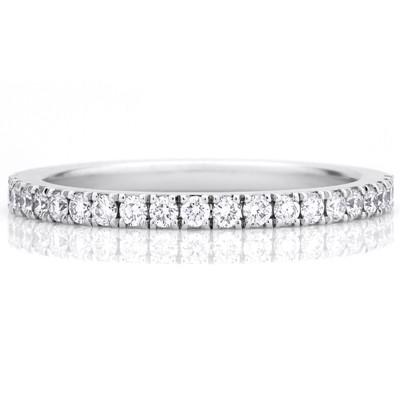 Forever 050 Carat Diamond Wedding Band Ring on 14k White Gold