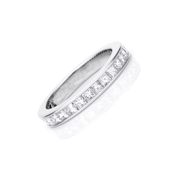 2 carat eternity princess cut diamond wedding band - Princess Cut Diamond Wedding Ring