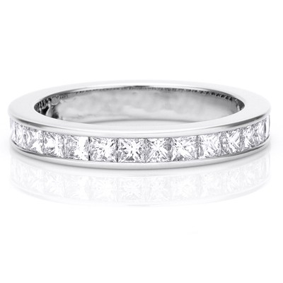2 carat eternity princess cut diamond wedding band - Princess Cut Wedding Ring
