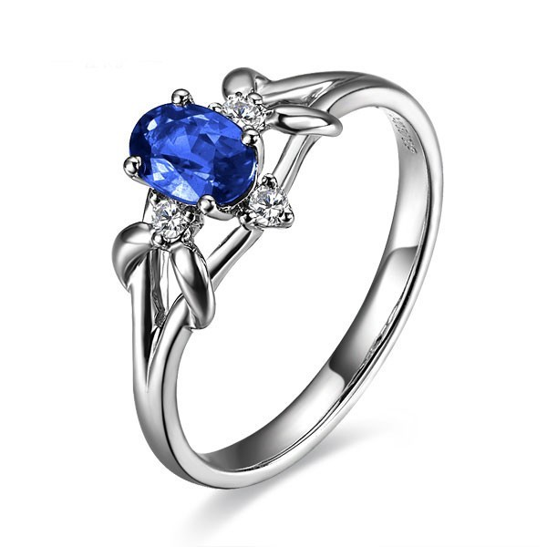 for gemstone sapphire solitaire ring sterling leige silver rings jewelry marquise women cut promise anniversary blue item