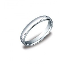 3.5mm MillGrain Finish Comfort Fit Wedding Band on 14k White Gold