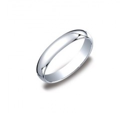 4mm MillGrain Finish Comfort Fit Wedding Band on 14k White Gold