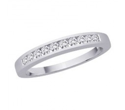 .25 Carat Diamond Wedding Band on 14k White Gold