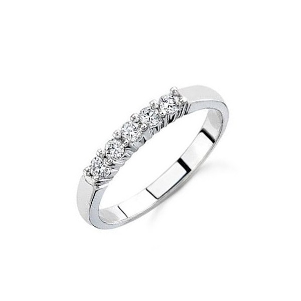 25 Carat Diamond Women Wedding Ring Band on 14k White Gold JeenJewels