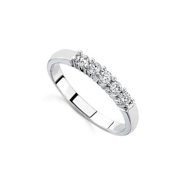 25 Carat Diamond Women Wedding Ring Band On 14k White Gold