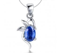 .25 Carat Sapphire Angel Pendant on 10k White Gold