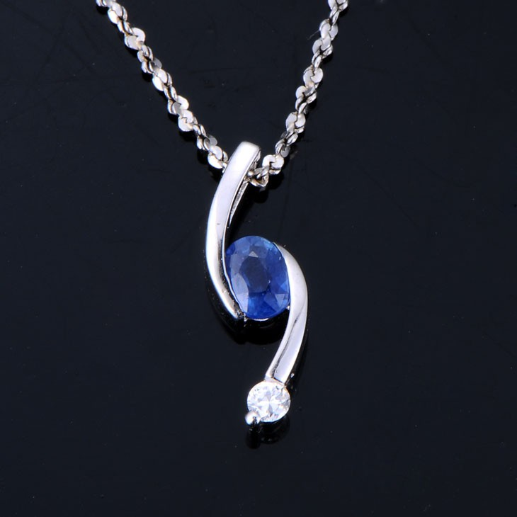 025 carat blue sapphire and diamond pendant jeenjewels 25 carat sapphire and diamond pendant mozeypictures Choice Image