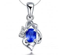 .25 Carat Sapphire and Diamond Pendant