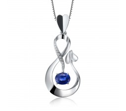 Naughty and Nice Sapphire and Diamond Pendant