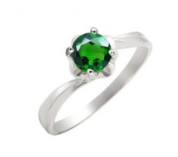 .5 Carat Emerald Gemstone Engagement Ring on Silver